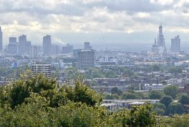 London skyline as seen from Primrose Hilll